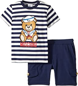 Moschino Kids Nautical Teddy Bear T-Shirt & Shorts Set (Infant/Toddler)