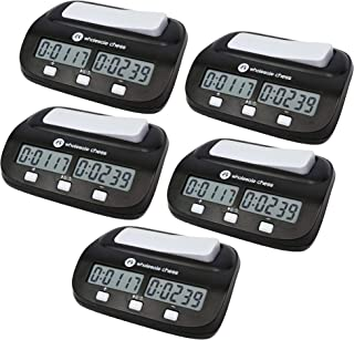 Wholesale Chess Basic Digital Chess Clock & Game Timer with Bonus and Delay - 5 Pack