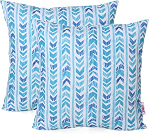 Christopher Knight Home 311784 Leona Outdoor Throw Pillow (Set of 2), Blue