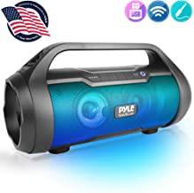 """Wireless Portable Bluetooth Boombox Speaker - 500W 2.0CH Rechargeable Boom Box Speaker Portable Barrel Loud Stereo System with AUX Input/USB/SD/Fm Radio, 3"""" Subwoofer, Voice Control - Pyle PBMWP185"""