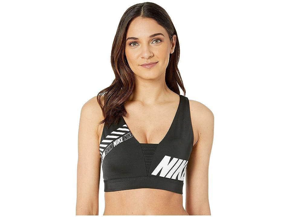 Nike Sport Distort Indy Plunge Bra (Black/Black) Women
