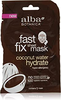 Alba Botanica Fast Fix Sheet Mask, Coconut Water Hydrate, 1 Ounce