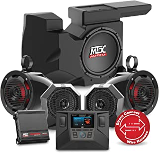 MTX Audio 2014 to 2017 Polaris Polaris RZR XP1000 or 900 Four Speaker, Dual Amplifier, and Single Subwoofer Audio System RZRSYSTEM3