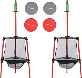 Triumph Two-in-One Disc Golf and Toss N Topple Target Game Outdoor Combination Set