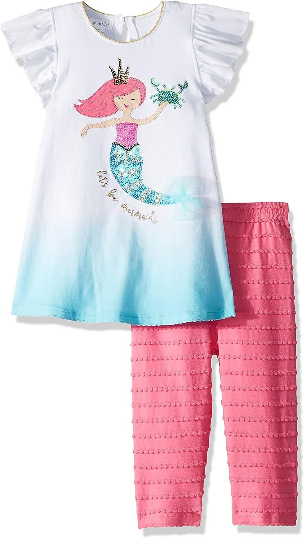 Mud Pie baby-girls Mermaid Flutter Sleeve Tunic and Capri 2 Piec