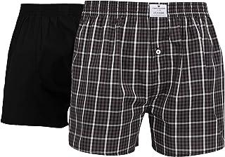 TOM TAILOR Men's Checkered Underwear Set Black Schwarz-dunkel-karo