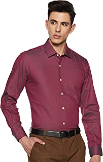Louis Philippe Men's Printed Slim fit Formal Shirt