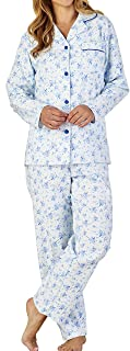 Slenderella PJ4218 Woven Ensemble de Pyjama /à Carreaux en Coton