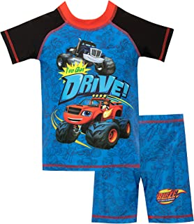 Blaze and the Monster Machines Boys Blaze and Crusher Swim Set Blue