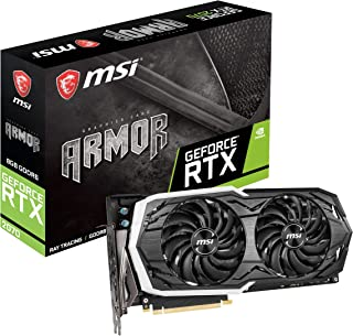 MSI Gaming GeForce RTX 2070 8GB GDRR6 256-bit HDMI/DP/USB Ray Tracing Turing Architecture HDCP Graphics Card (RTX 2070 Arm...