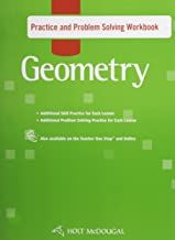 Holt McDougal Geometry: Practice and Problem Solving Workbook