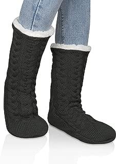 Womens Non Skid Slipper Socks Warm Thick Fleece lined Fluffy Christmas Stockings