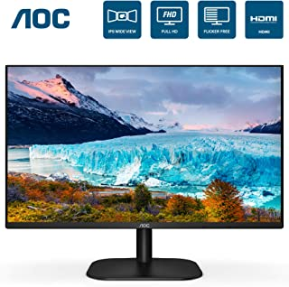 "AOC 24B2XH 24"" Full HD IPS Monitor, 3-Sided Frameless & Ultra Slim HDMI and VGA inputs, Lowblue Mode, VESA Compatible"