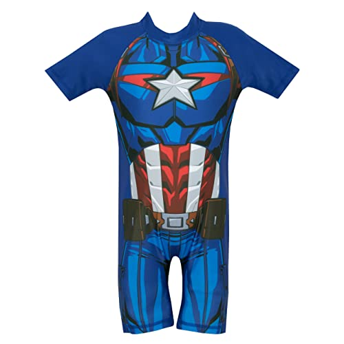 e3a374920bc5b Marvel Avengers Boys Captain America Swimsuit Ages 18 Months to 7 Years