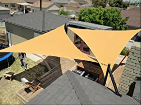 diig Outdoor Sun Shade Sail Canopy, 2 PCS 12' x 12' x 12' Triangle Shade Cloth Patio Cover - UV Resistant Fabric Awning Shelter for Garden Pergola Yard Carport (Sand Color)