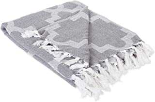 """DII Modern Moroccan Cotton Blanket Throw with Fringe For Chair, Couch, Picnic, Camping, Beach, & Everyday Use , 50 x 60"""" -..."""