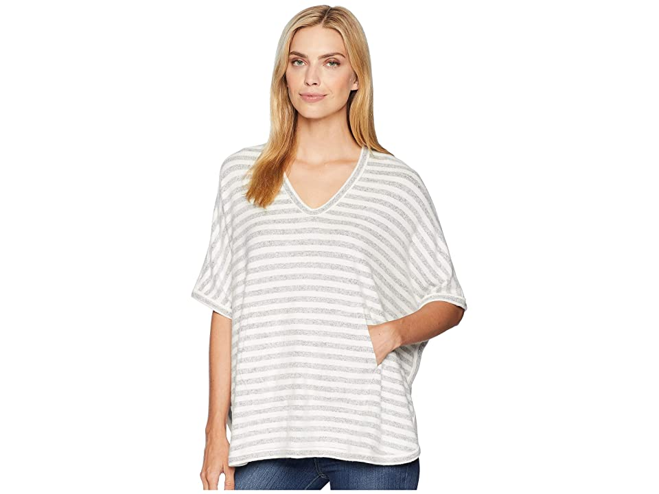Karen Kane Kangaroo Pocket Poncho (Stripe) Women