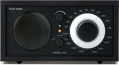 Tivoli Audio Tivoli Audiomodel One Am/fm Table Radio, Black/Silver, 3.15 Lb