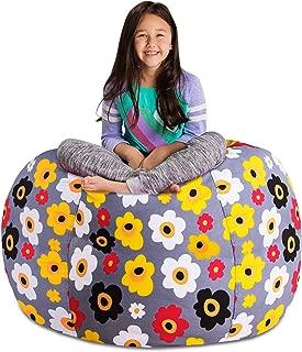 Posh Stuffable Kids Stuffed Animal Storage Bean Bag Chair Cover - Childrens Toy Organizer, X-Large 48