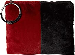 Cranberry/Black Color Block Fur