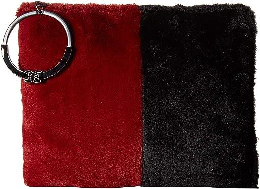 Cranberry/Black Color Block Fur