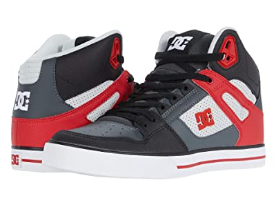 DC Pure High-Top WC (Grey/Red) Men