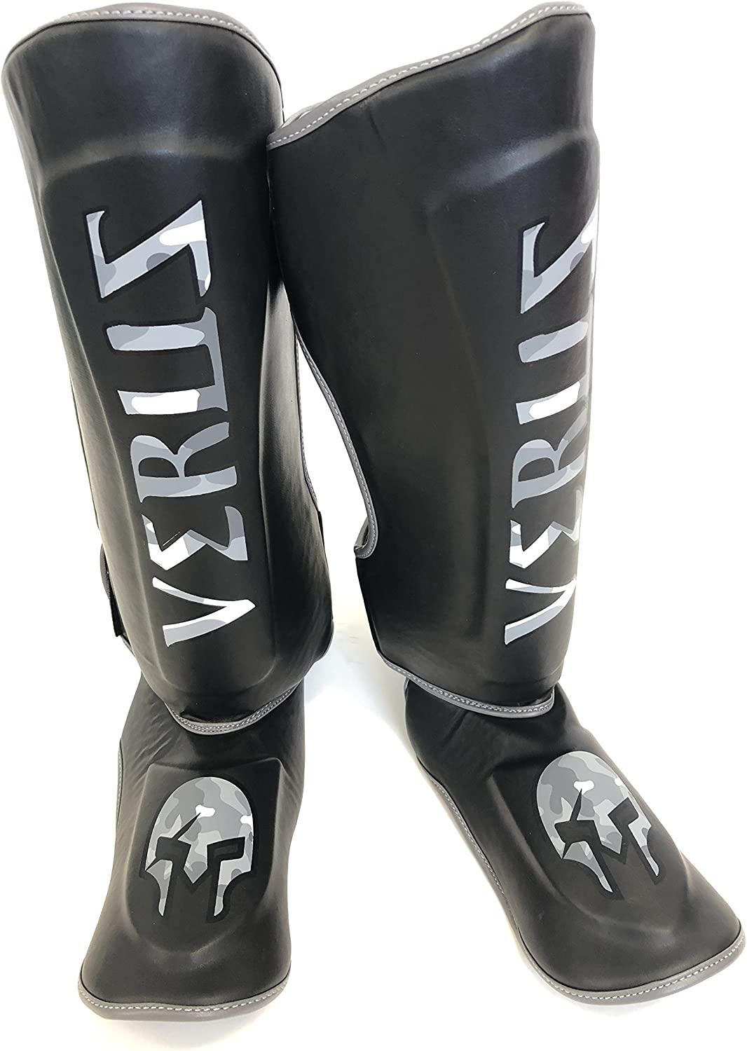Shin In step Guards Muay Thai Kickboxing MMA Leg /& foot Support Protector Black