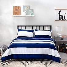 LINENSPA All-Season ReversibleDesignerDown Alternative Comforters- Hypoallergenic - Microfiber Fill - Machine Washable