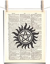 Supernatural Anti Possession Tattoo 8.5 x 11 Vintage Dictionary Page Unframed Art Print
