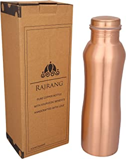 RAJRANG BRINGING RAJASTHAN TO YOU Copper Bottle for Water Yoga Bottles 950 ml Hourglass Leak Proof Cap for Children Sports Men Women Gym Water Bottle