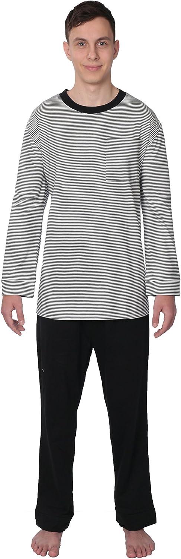 Comfort Knit Mens Sleepwear 100% Cotton Knit Pajama Set