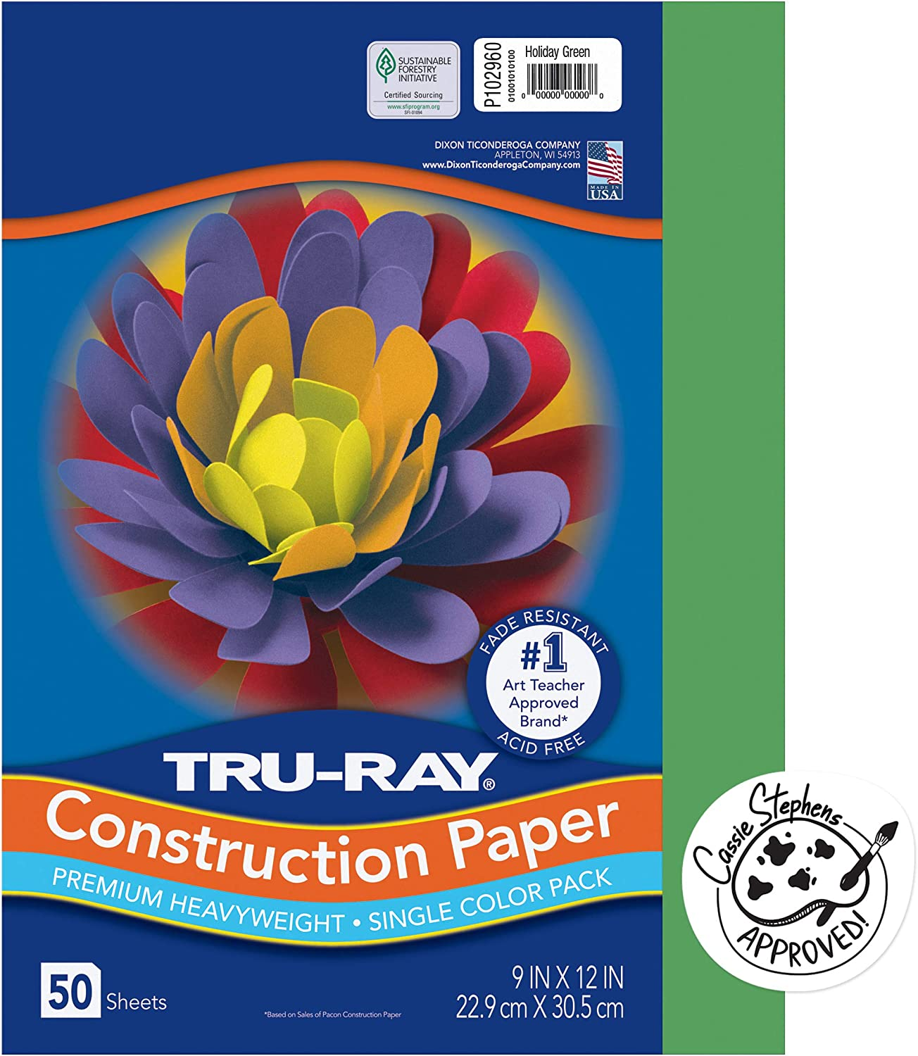 Tru-Ray Heavyweight New mail order Construction Paper Holiday Free shipping 12