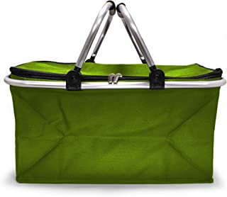 e-Best - Einkaufskorb - Korb mit gepolsterten Tragegriffen - Picknickkorb, Einkaufstasche, Picknicktasche, Klappbox, Klapp...