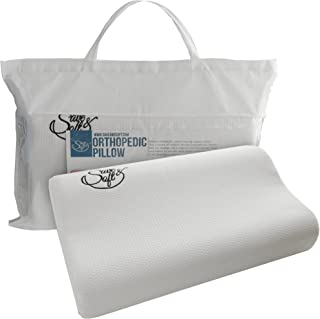 Memory Foam Pillow with Cooling Gel - Orthopedic Pillows Prevent Back and Neck Pain - Bamboo Washable Cover Infused Aloe V...