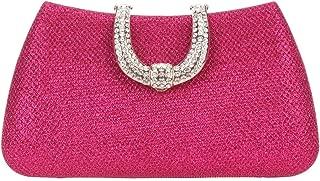 Glitter Lnitials Clutch Purses For Women Hard Case Evening bag