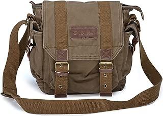 Gootium Canvas Messenger Bag - Small Vintage Shoulder Bag Crossbody Satchel, Army Green