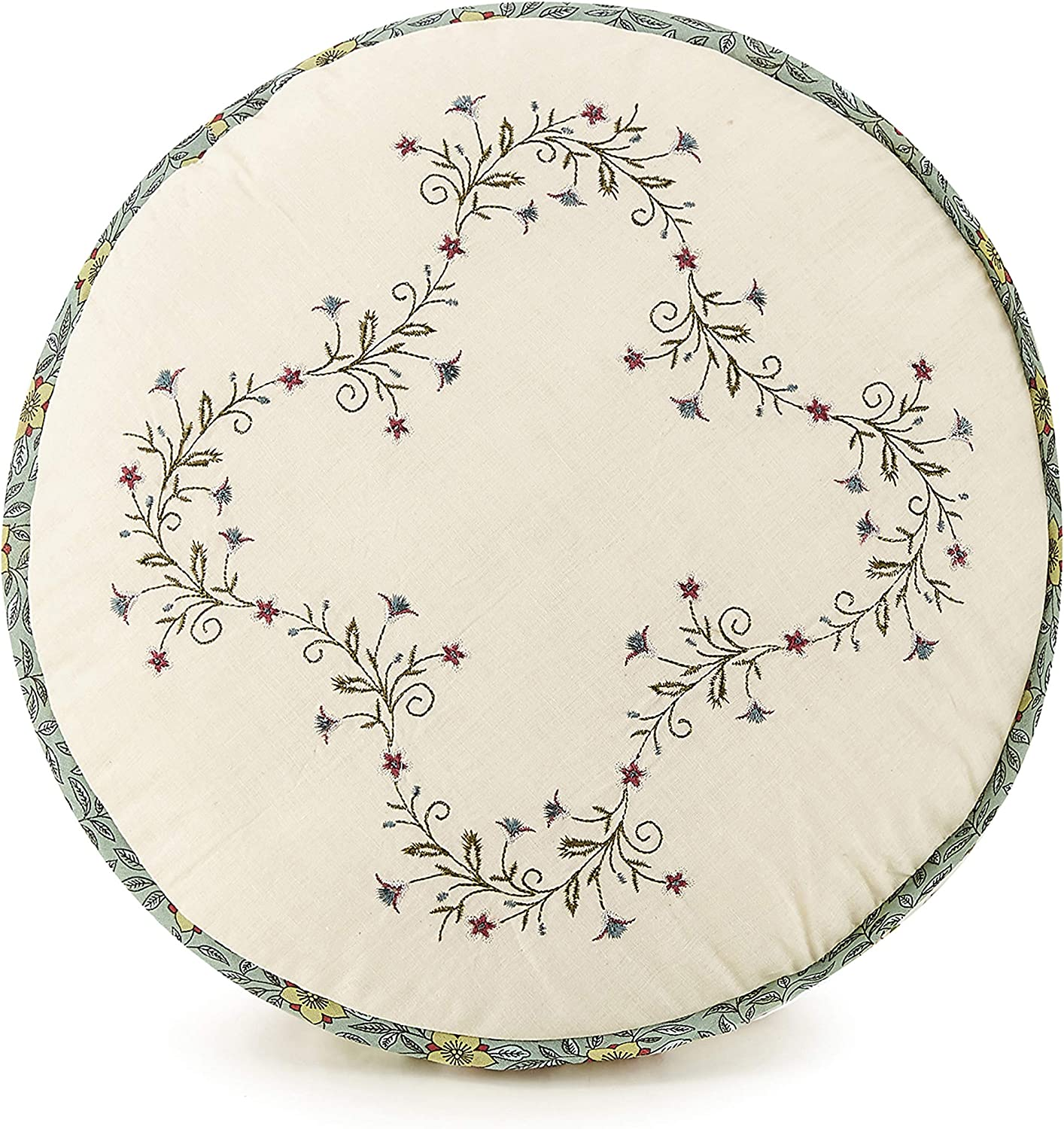 Modern Heirloom Collection Olivia Max 64% OFF Cheap Round P Decorative Embroidered