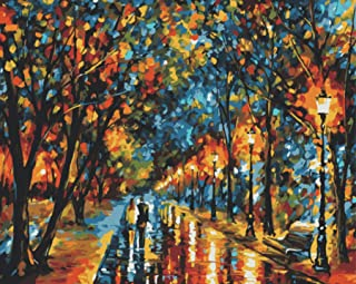 paint by number kits Romantic love autumn 16*20 inches. Diy oil painting