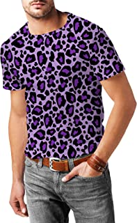 Rainbow Rules Bright Leopard Print Mens Sport Mesh T-Shirt