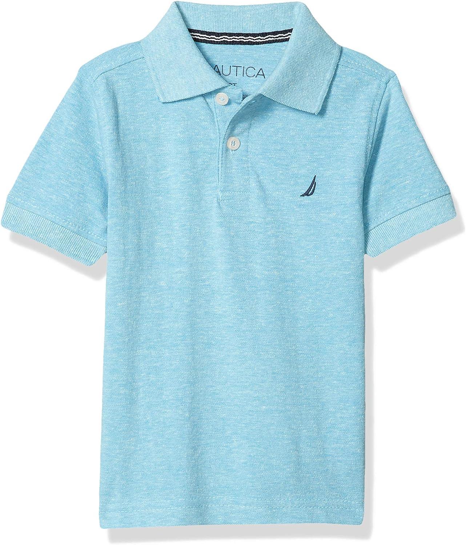 Nautica Boys' Short Sleeve Solid Polo