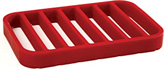 Norpro Rectangle Silicone Roasting Rack, Red