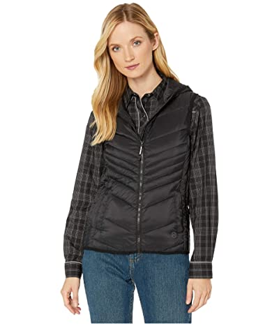 Roper 4043 Down Proof Coated Vest with Hood (Black) Women