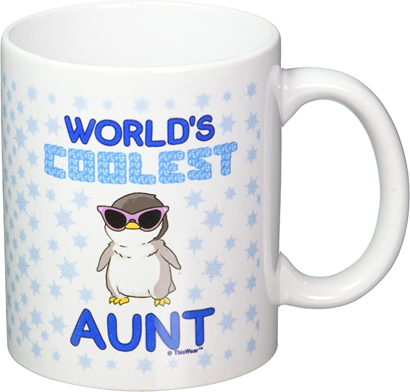 Mother S Day Gifts World S Coolest Aunt Penguin Gift Coffee Mug Tea Cup White