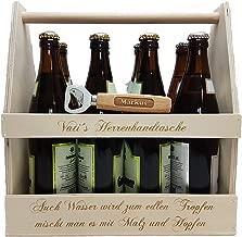 Bierflaschentr/äger aus Holz mit Gravur ZUM SELBSTGESTALTEN Bierhobel Flaschen/öffner Personalisierter Flaschenkorb f/ür 6 Flaschen 0,5L /& 0,33L Super Vatertagsgeschenk