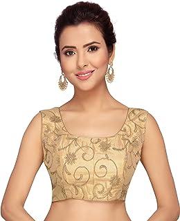 STUDIO Shringaar Golden Embroidered Sleeveless Blouse
