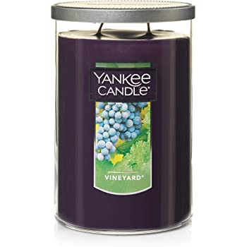 Yankee Candle Large Jar 2 Wick Vineyard Scented Tumbler Premium Grade Candle Wax with up to 110 Hour Burn Time, Purple