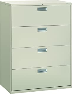 HON 694LQ 600 Series 42-Inch by 19-1/4-Inch 4-Drawer Lateral File, Light Gray