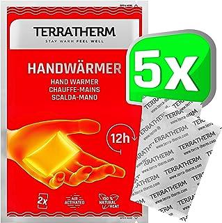TerraTherm handvärmare, fickvärmare för varma händer i upp till 12 timmar, värmedynor hand med luftaktivering, 100% naturl...