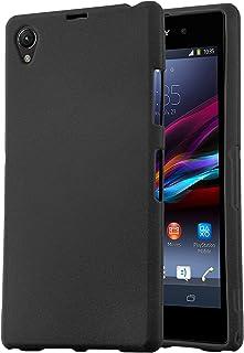 Cadorabo Funda para Sony Xperia Z1 Compact en Frost Negro - Cubierta Proteccíon de Silicona TPU Delgada e Flexible con Antichoque - Gel Case Cover Carcasa Ligera