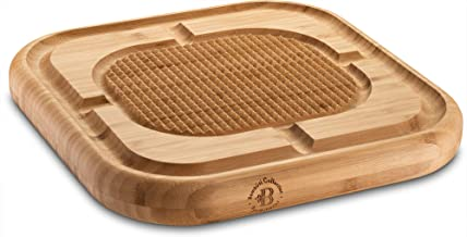 Bambusi Carving Board with Deep Juice Grooves - Meat Cutting Chopping Board Stabilize Beef and Poultry While Carving - Gift Idea
